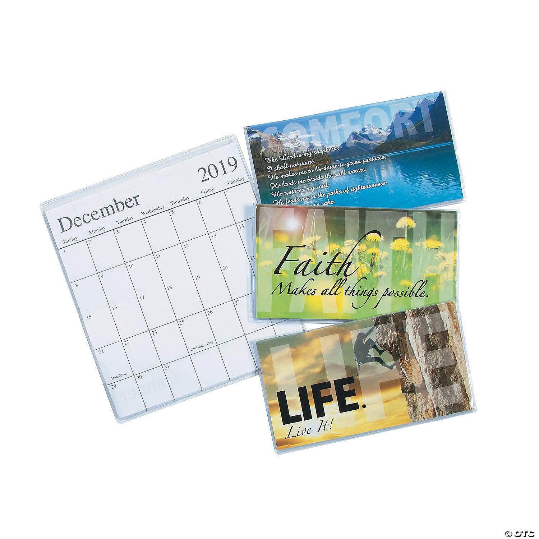 Inspirational Calendar 2020 2019   2020 Inspirational Pocket Calendars   Discontinued