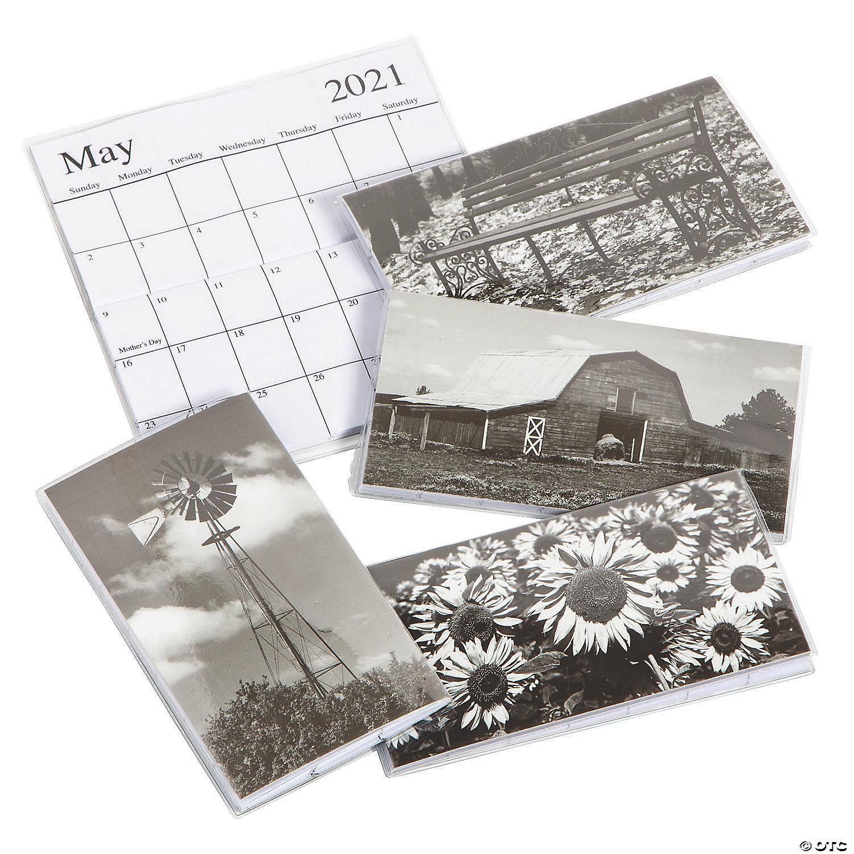 2021 2022 Black White Pocket Calendars Oriental Trading