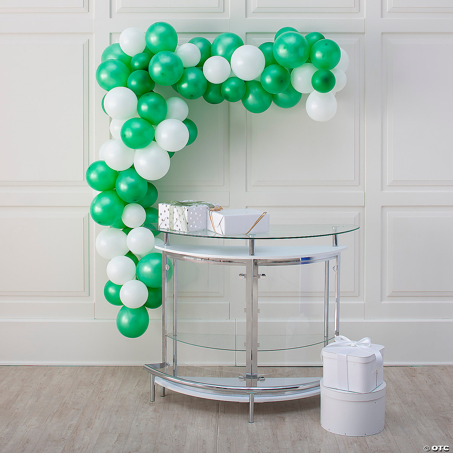25 Ft Green White Balloon Garland Kit With Air Pump