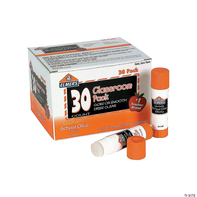 28 oz Elmer's® Clear Washable Glue Sticks Classroom Pack - 30 Pack