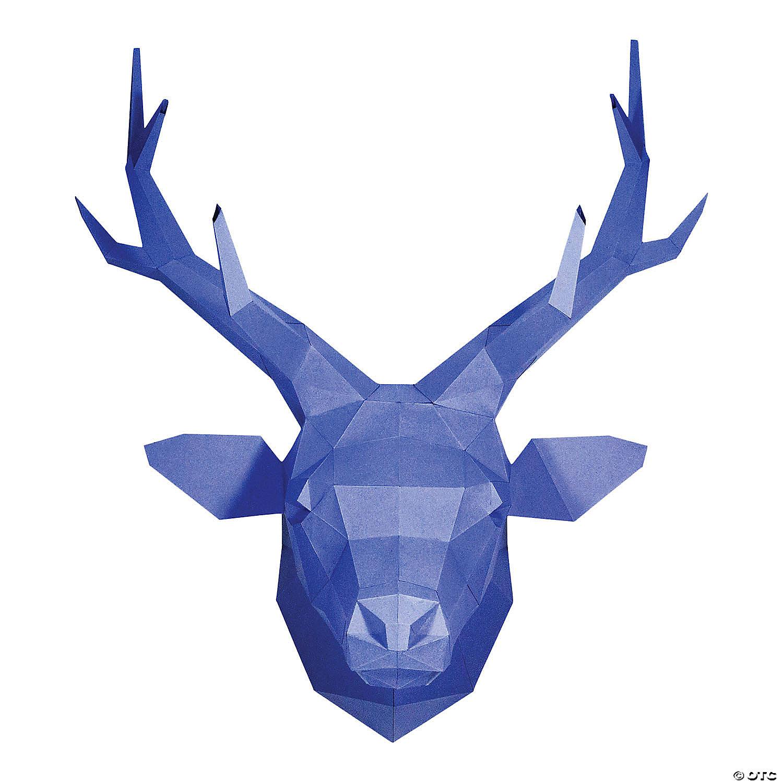 3d Papercraft Wall Art Deer Head
