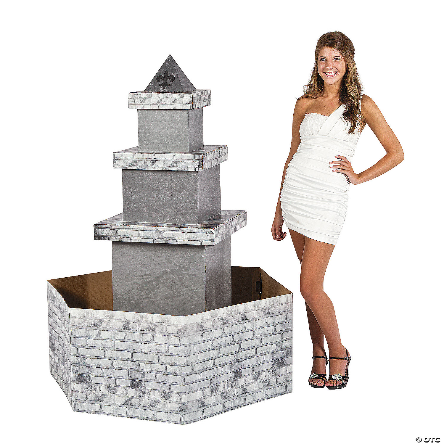 3D Parisian Water Fountain Cardboard Stand-Up | Oriental Trading