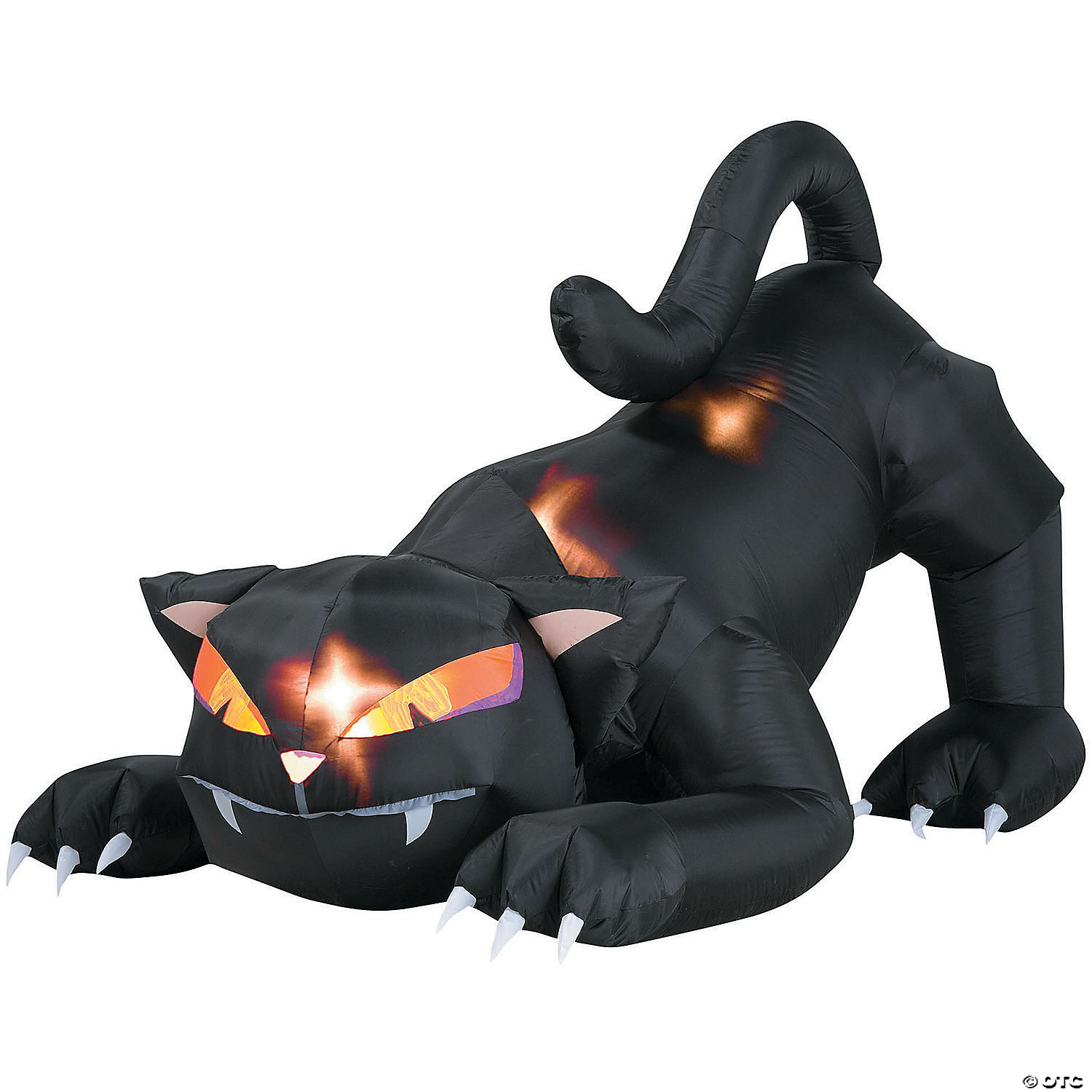 72 Blow Up Inflatable Black Cat With Turning Head Halloween Decoration