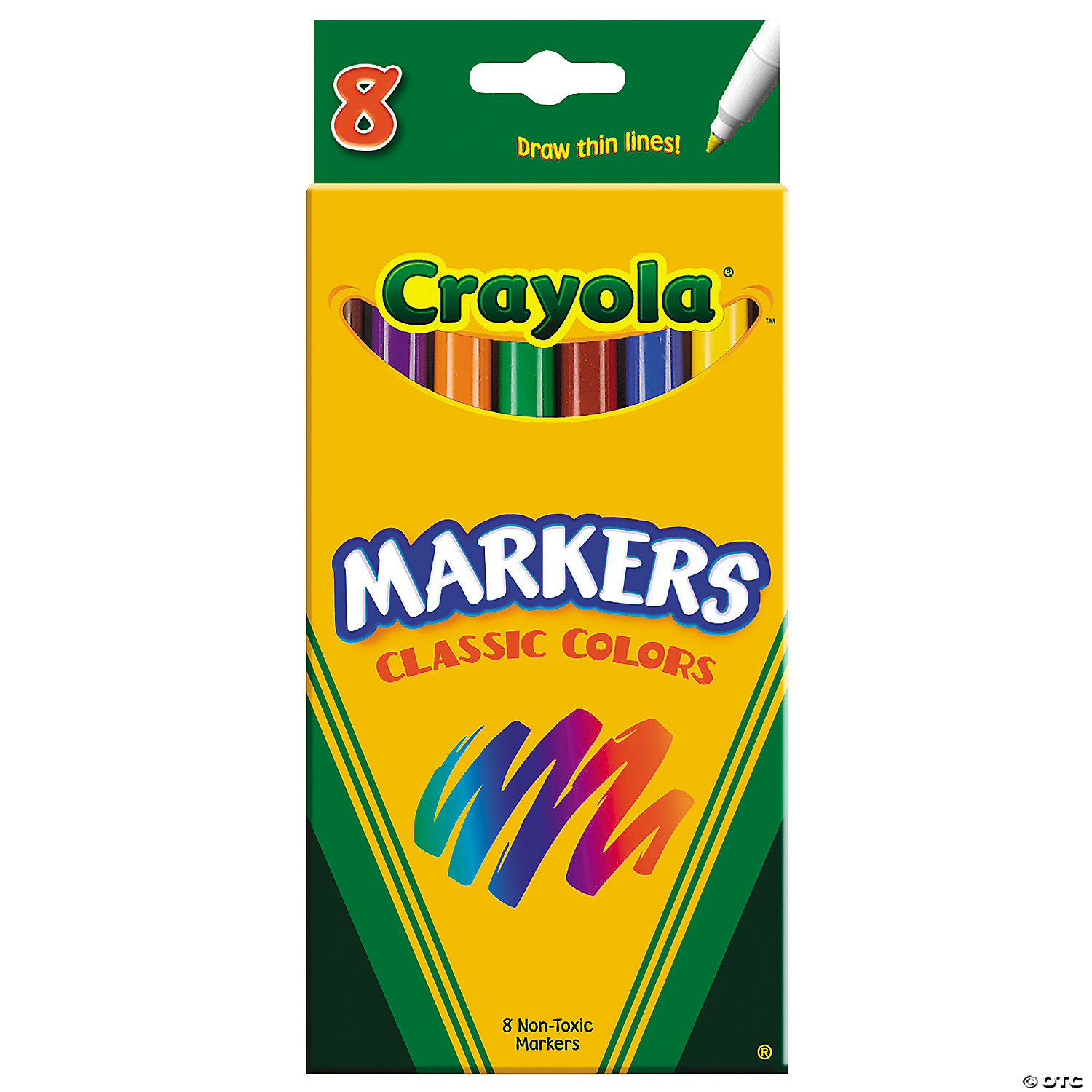 8 Color Crayola Classic Fine Tip Markers