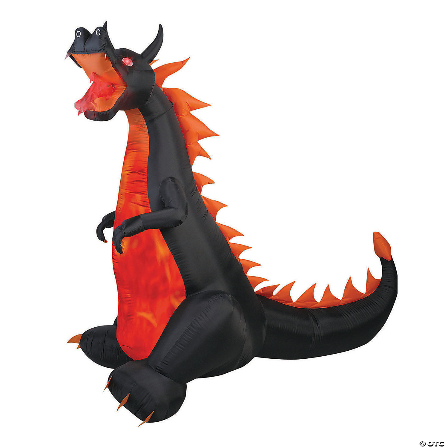 84 Blow Up Inflatable Fire & Ice Dragon Halloween Decoration