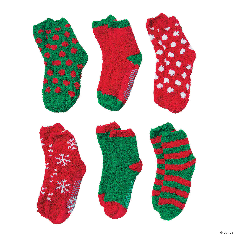 Christmas Fuzzy Socks.Adult S Christmas Fuzzy Socks