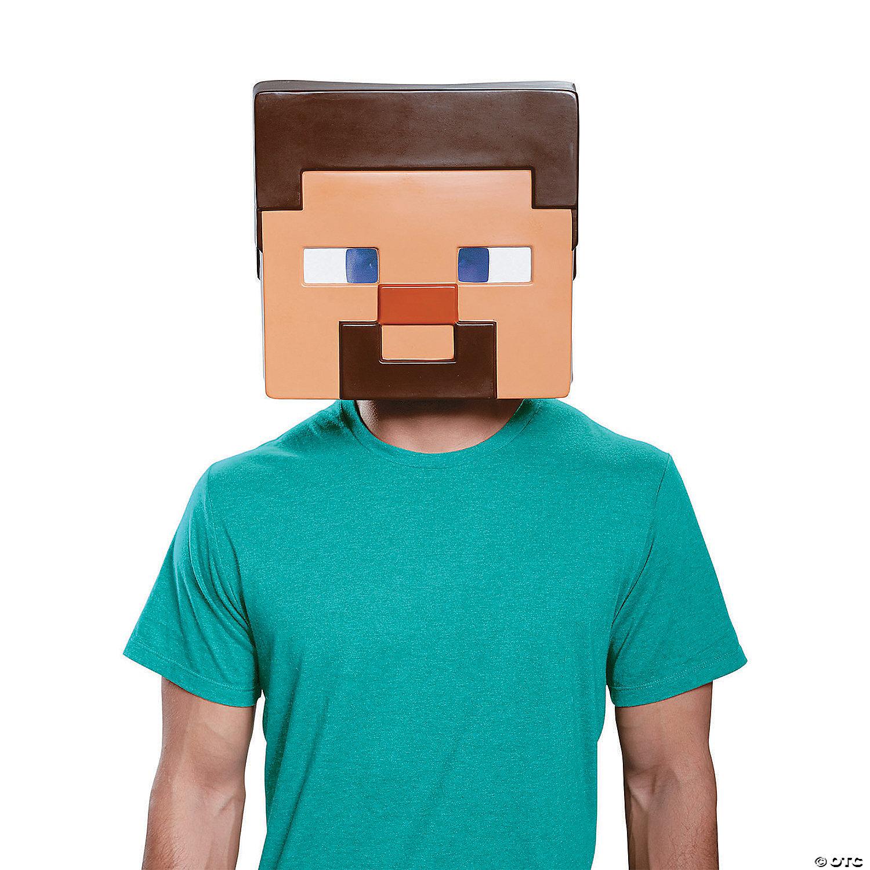 Adult Steve Minecraft Mask Oriental Trading