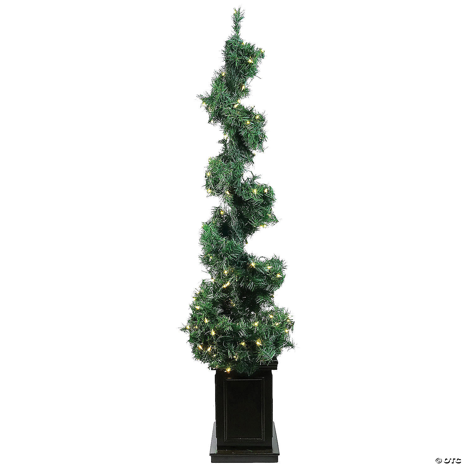 Allstate 5 Pre Lit Potted Helix Spiral Artificial Topiary Christmas Tree Clear Lights Oriental Trading