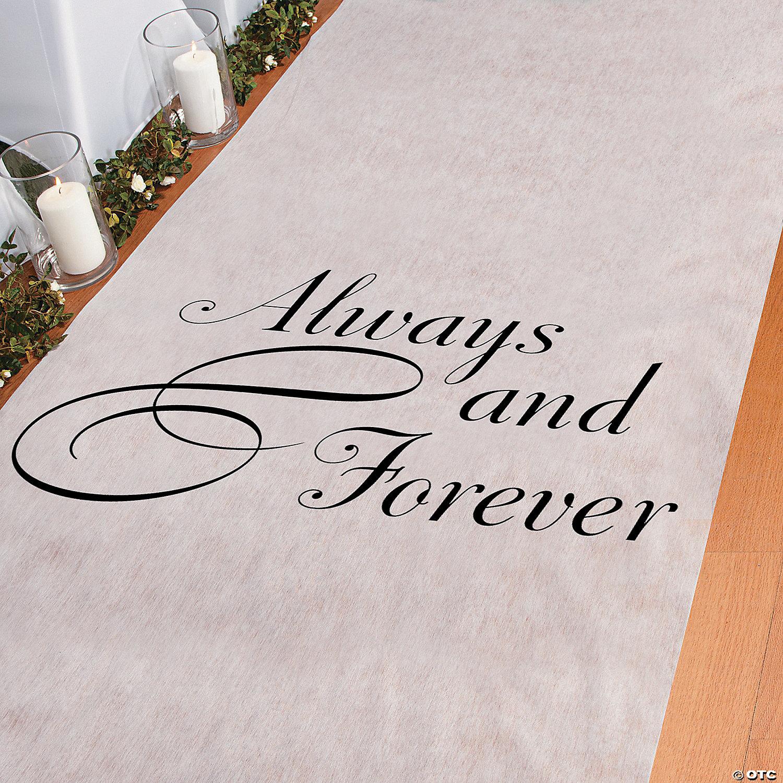 Aisle Runner For Wedding.Always Forever Wedding Aisle Runner