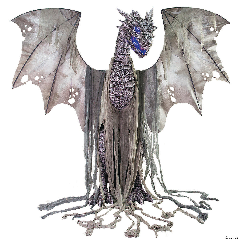 Dragon Halloween Decorations.Animated Winter Dragon Halloween Decoration Oriental Trading