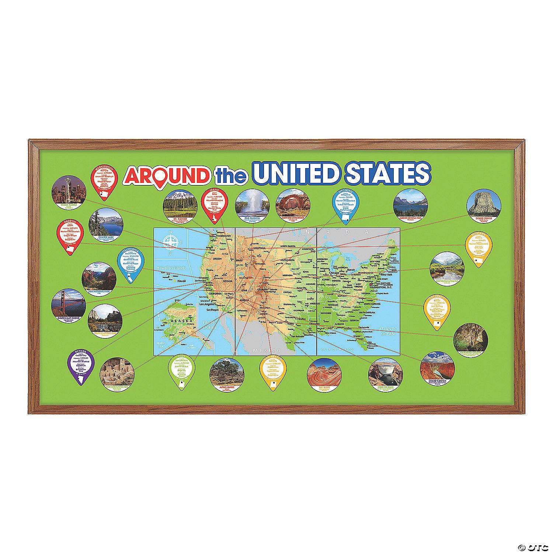 Around the US Bulletin Board Set  Oriental Trading