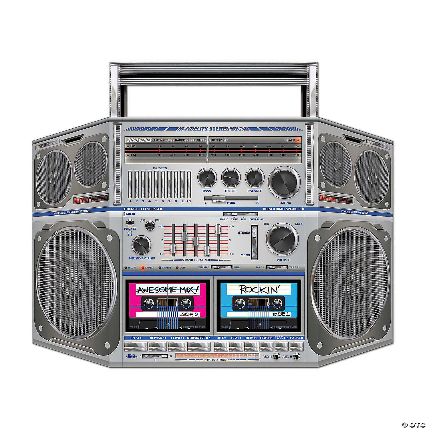 Awesome 80s Boombox Cardboard Stand Up Oriental Trading