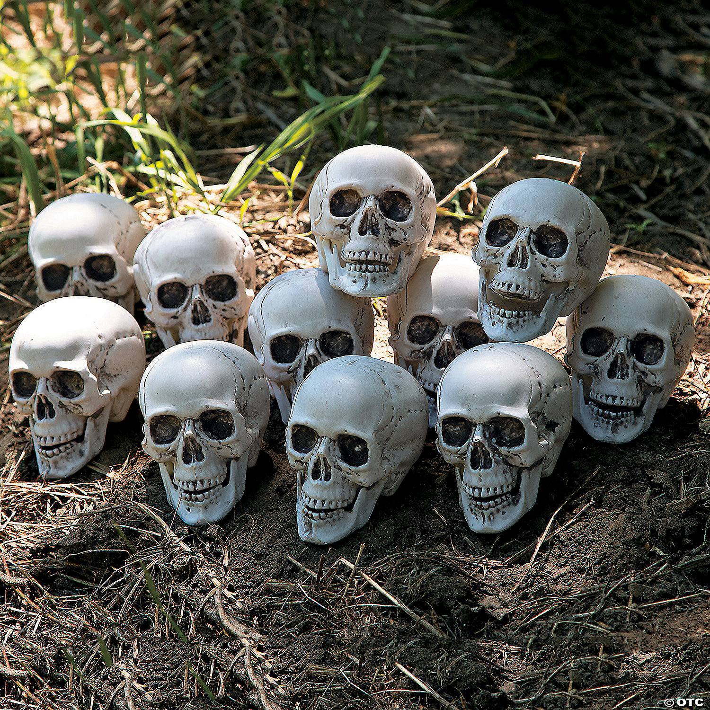 Halloween Skull Decorations.Bag Of Skulls Halloween Decorations