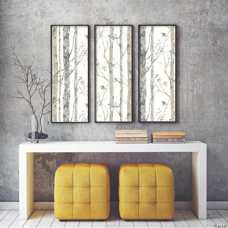 Birch Trees Peel And Stick Wallpaper Oriental Trading