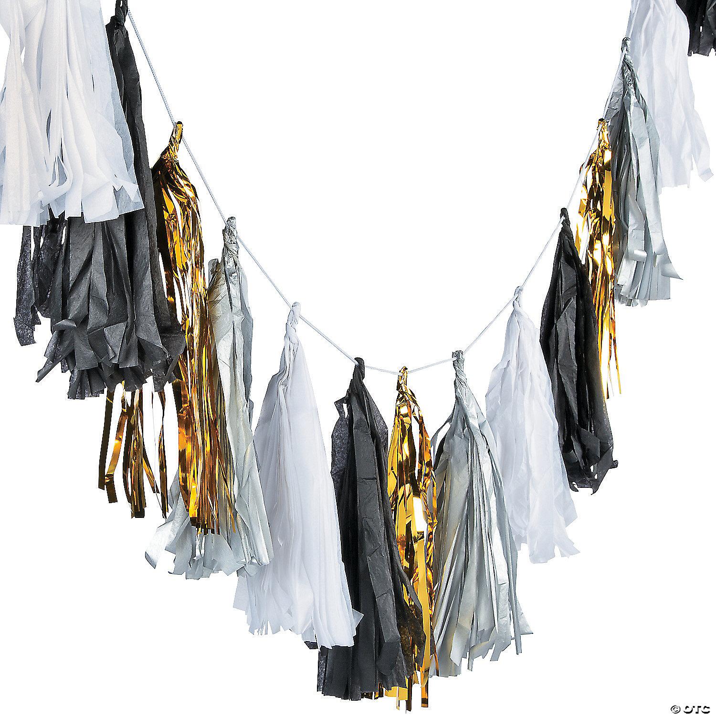 Black White Tassel Garland Oriental Trading