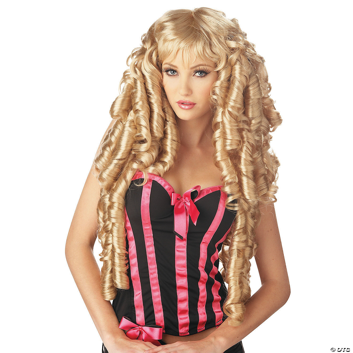 Adult Dirty Blonde Mississippi Mudflap Costume Wig /& Moustache