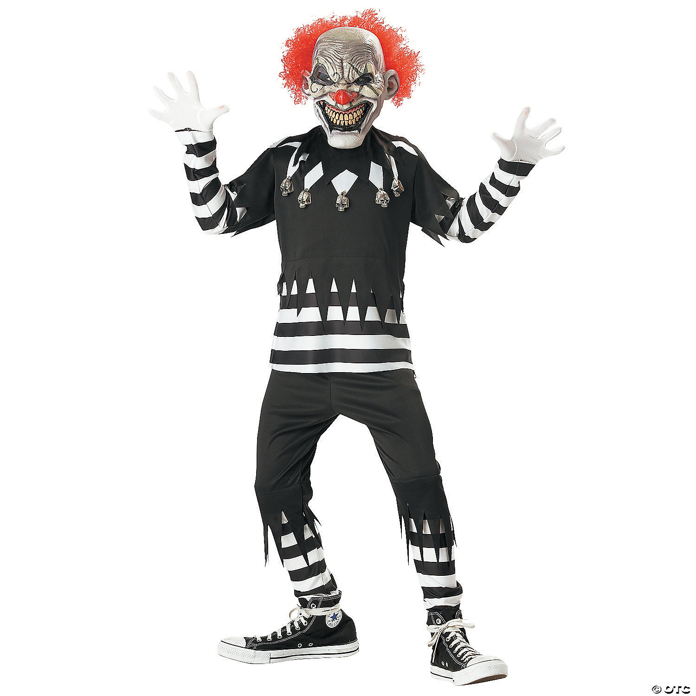 Boy S Creepy Clown Costume Oriental