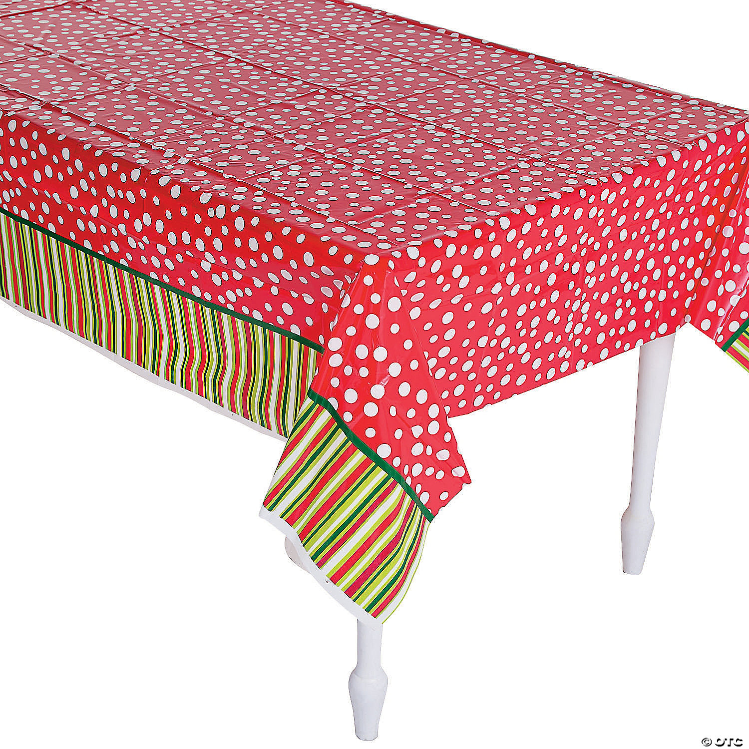 Bright Christmas Plastic Tablecloth Oriental Trading