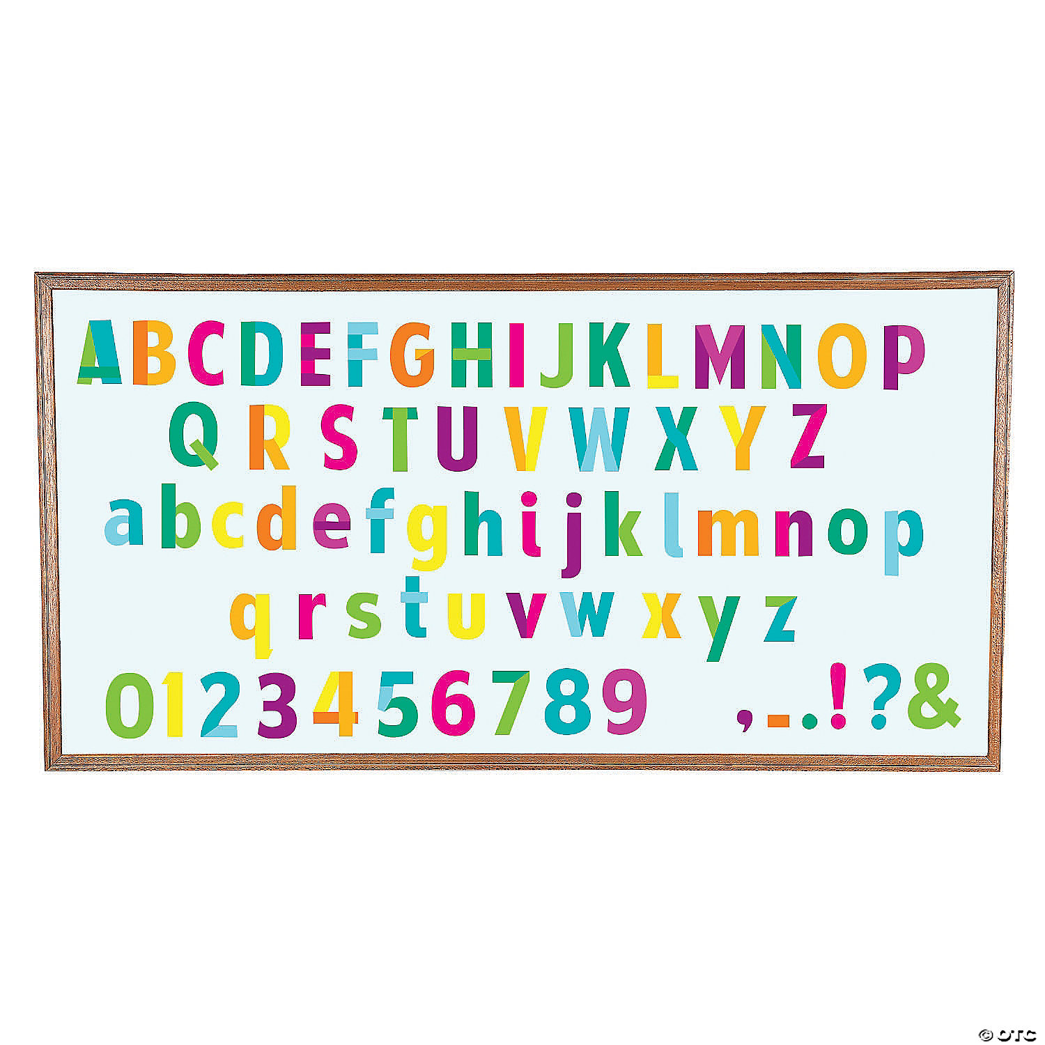 Bright Classroom Bulletin Board Letters Numbers Oriental Trading
