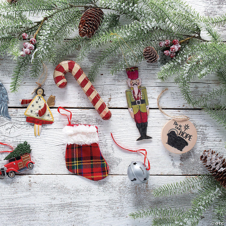 Buffalo Plaid Mini Stocking Ornaments Oriental Trading
