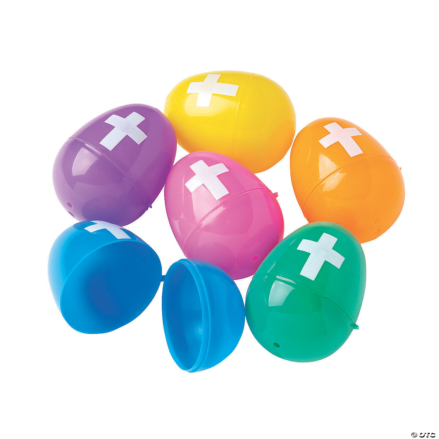 Bulk Bright Plastic Easter Eggs With Cross 144 Pc Oriental Trading