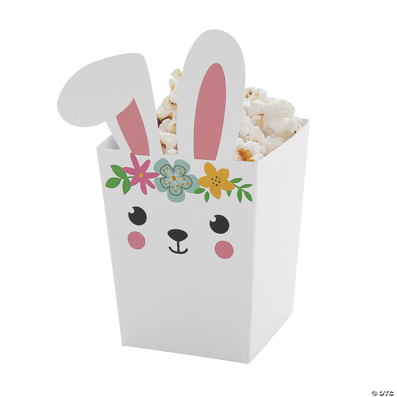 Bunny Popcorn Boxes Oriental Trading