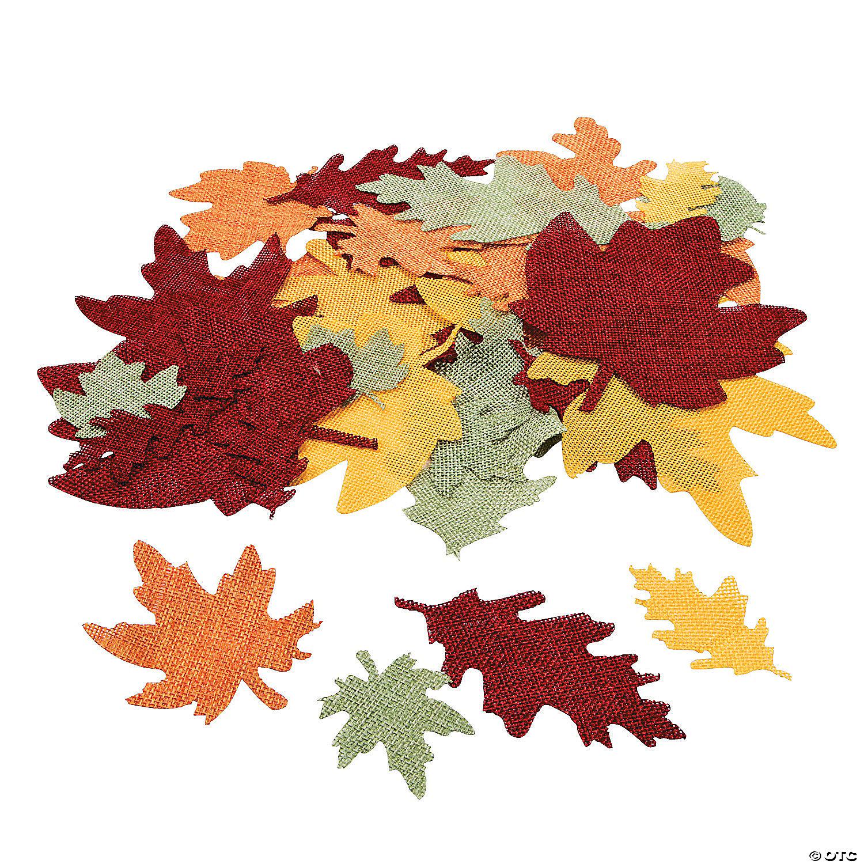 Burlap Leaf Shapes Oriental Trading