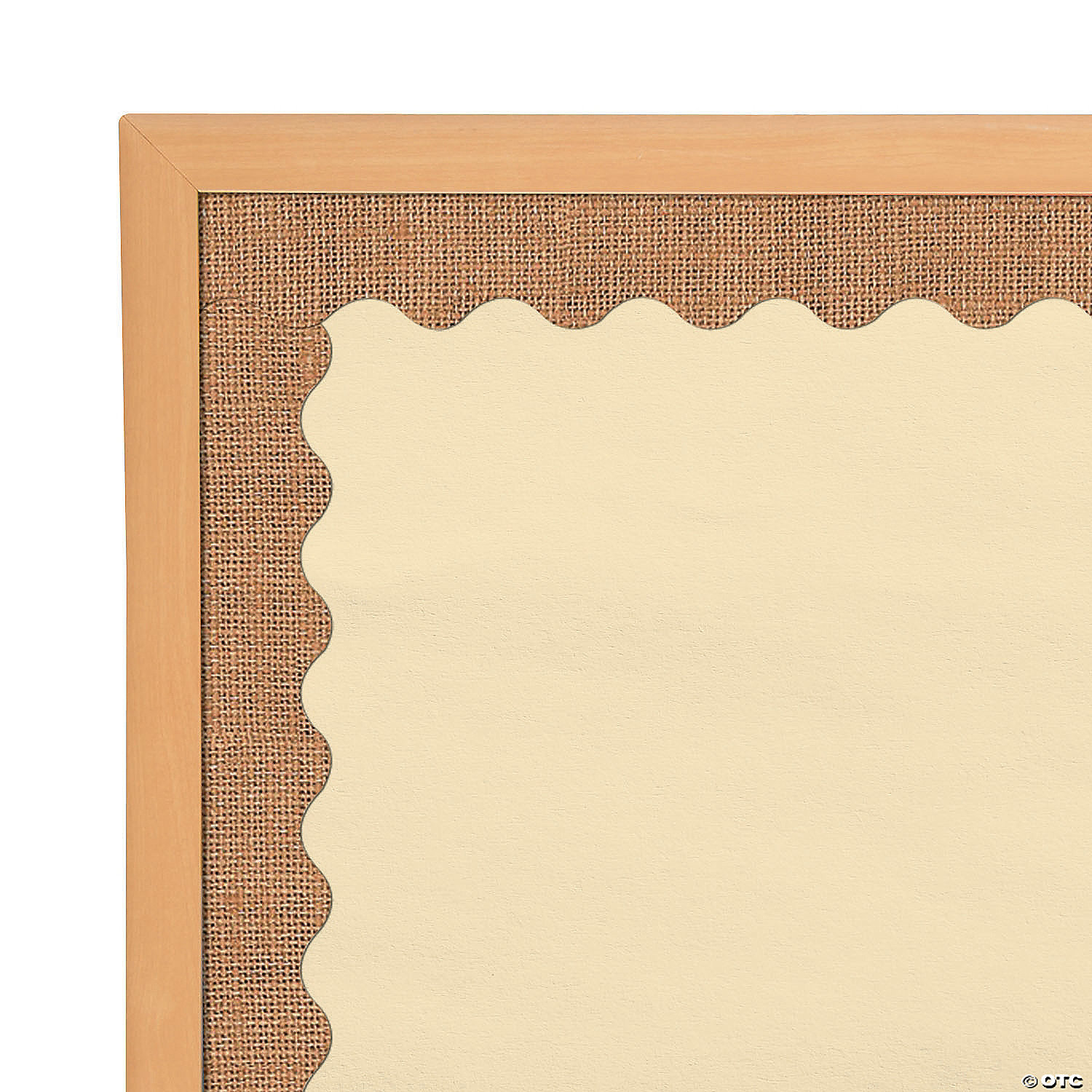Burlap Scalloped Bulletin Board Border Oriental Trading