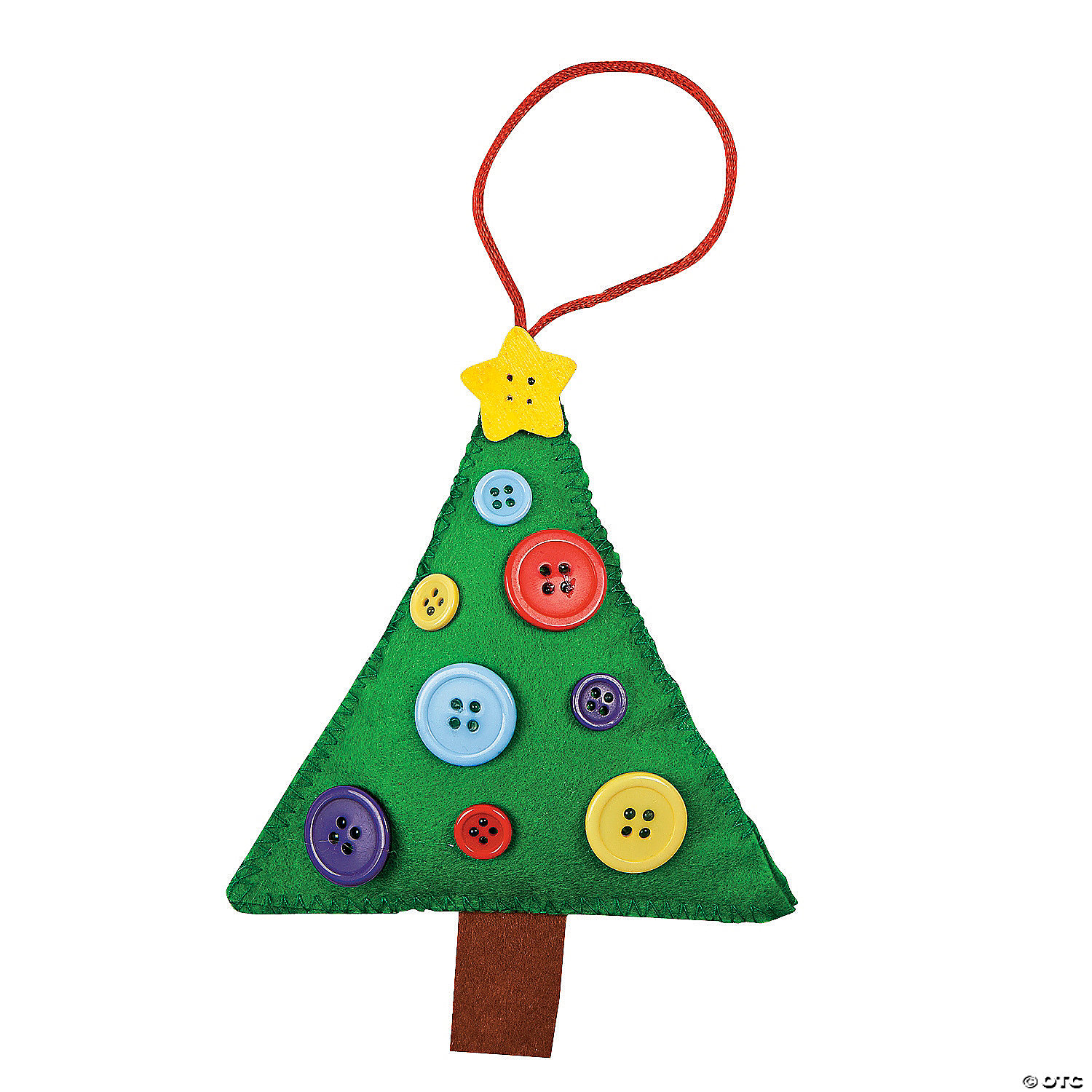 Button Christmas Tree Ornament Craft Kit Discontinued