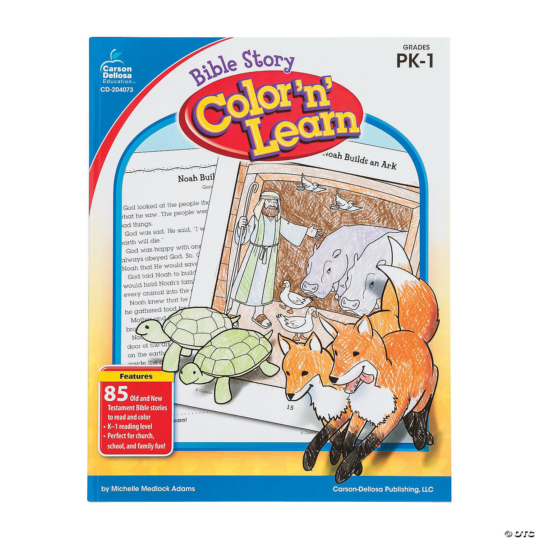 Carson Dellosa Bible Story Color N Learn Book Pre K Grade 1