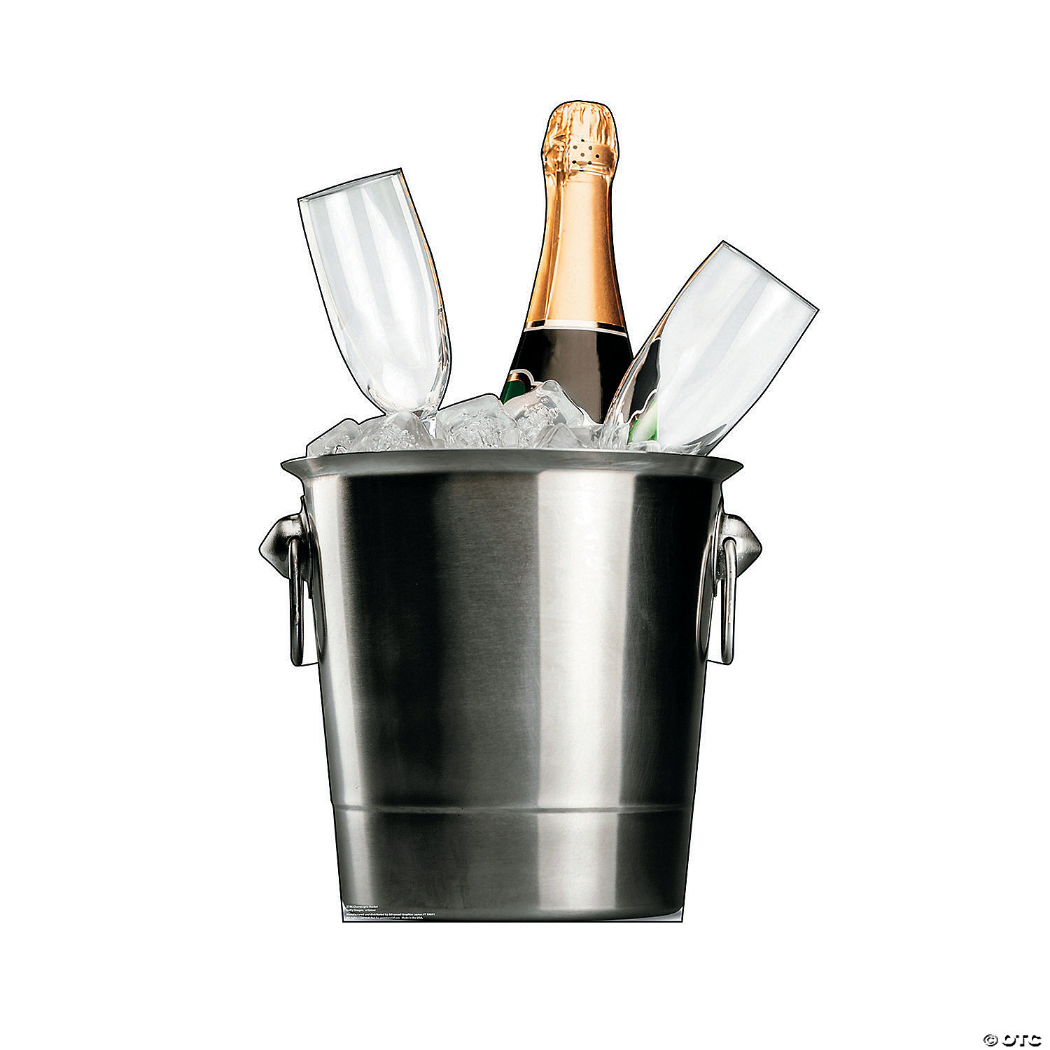 Champagne Bucket Cardboard Stand Up Oriental Trading