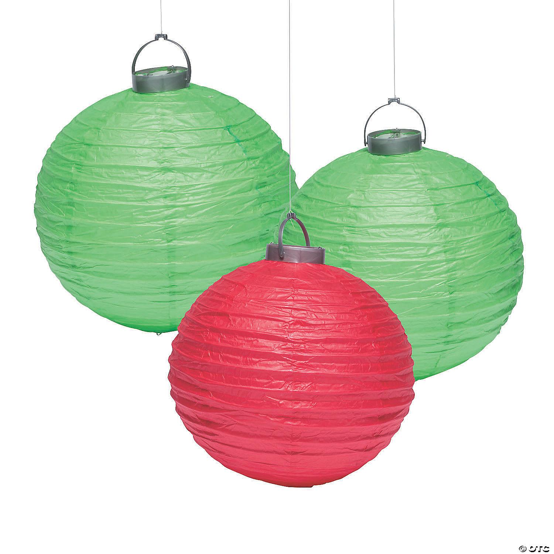 Christmas Ornament Hanging Paper Lanterns Oriental Trading
