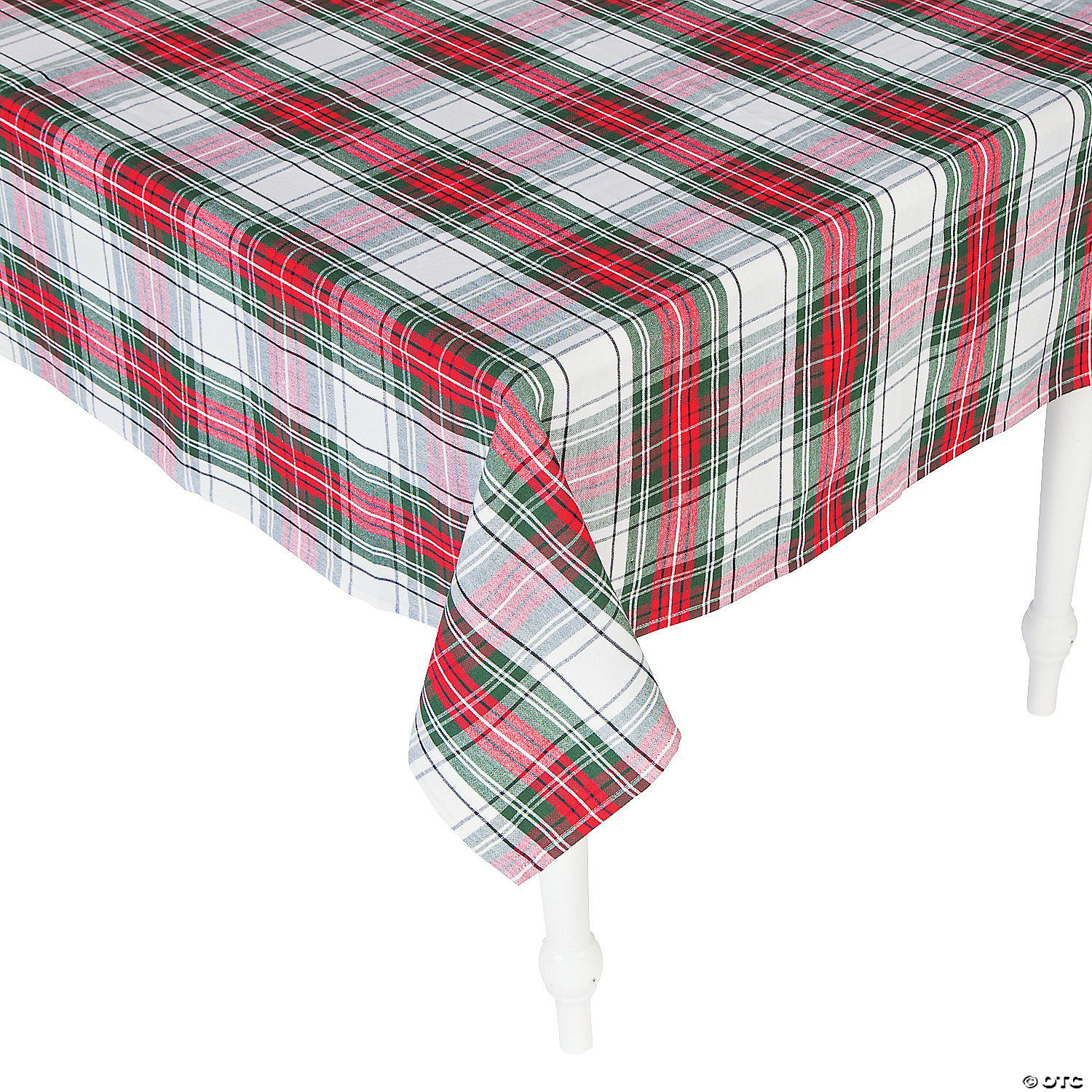 Christmas Plaid Cotton Tablecloth Discontinued