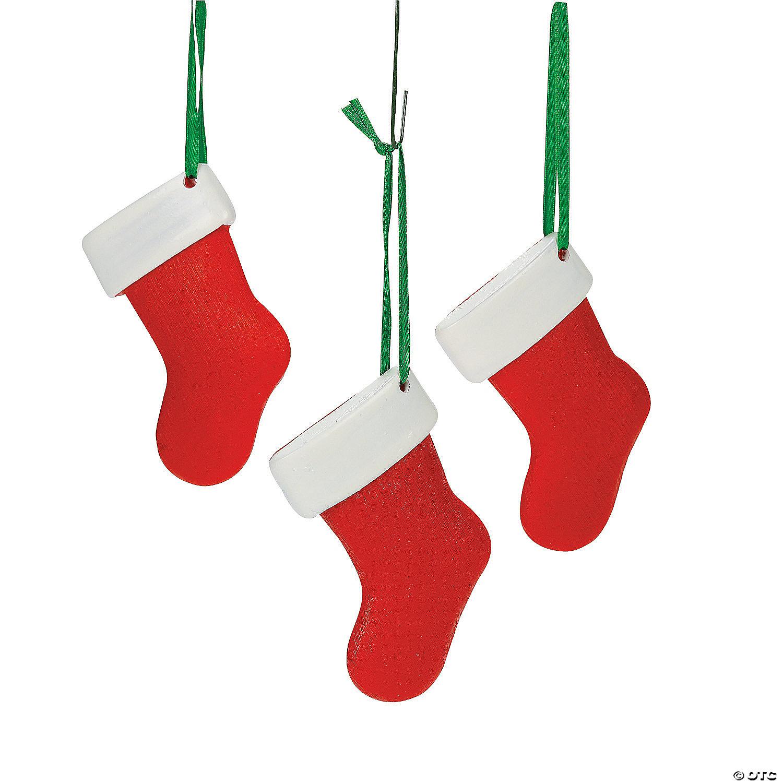 Christmas Stocking Ornaments - 27 Pc.