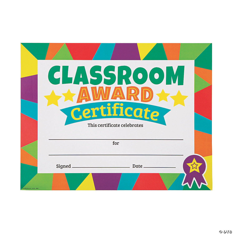 Classroom Award Certificates Oriental Trading
