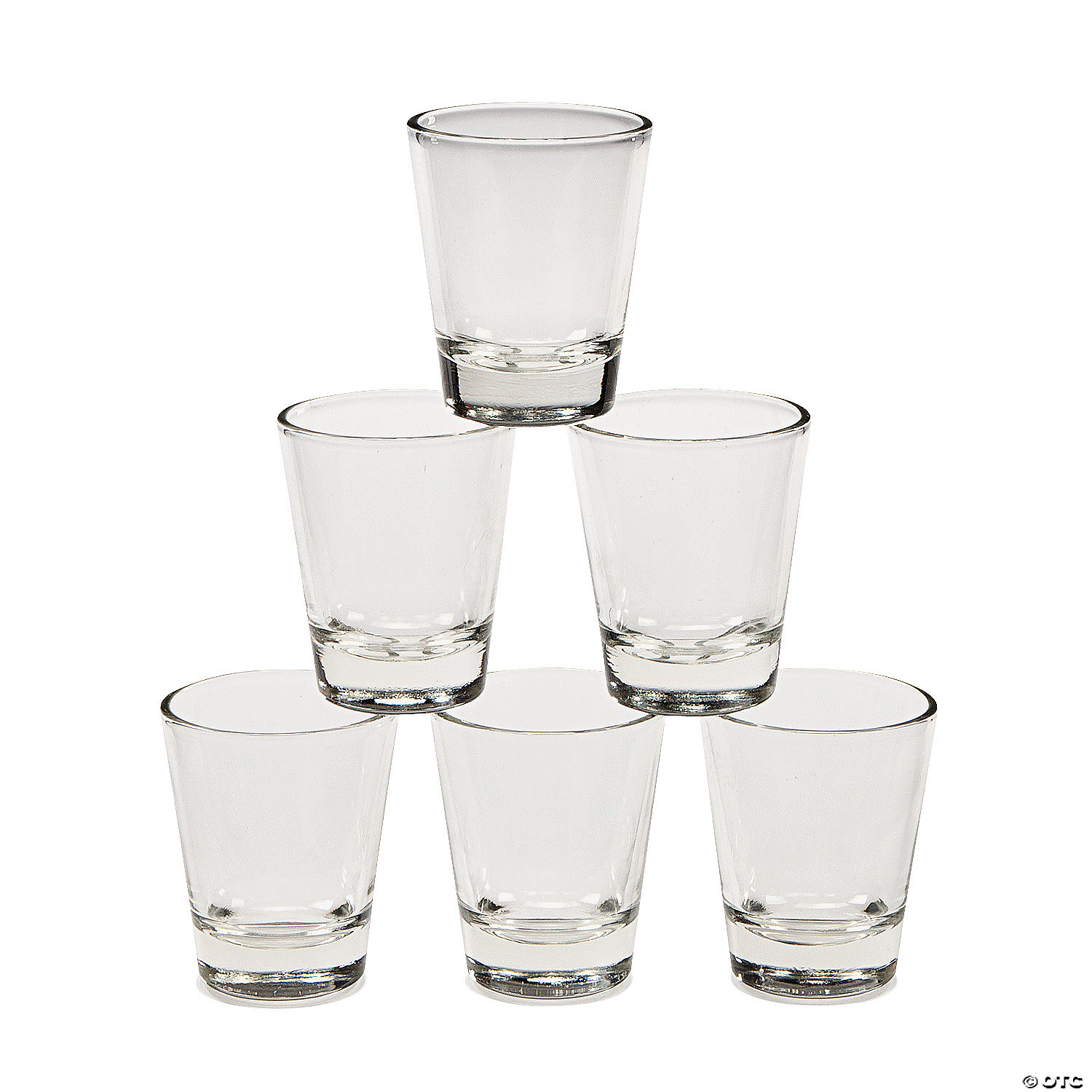 clear glass shot glasses