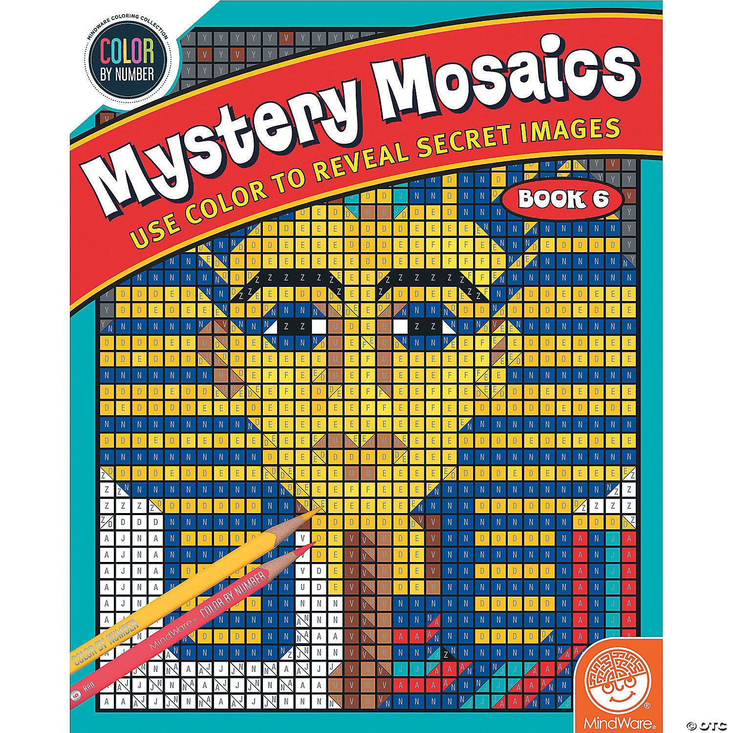 Book 1 Color By Number Mystery Mosaics