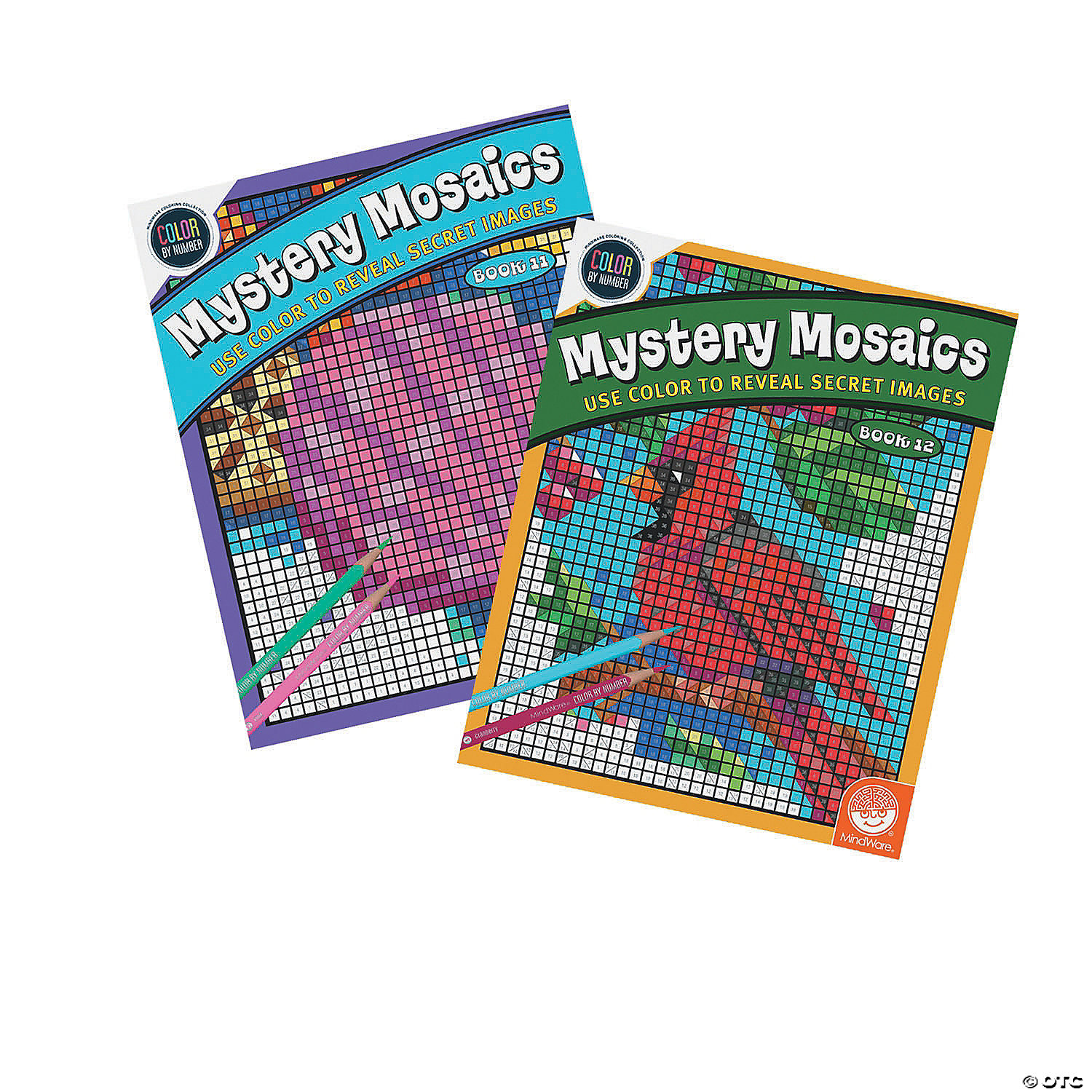Color By Number Mystery Mosaics Books 11 12