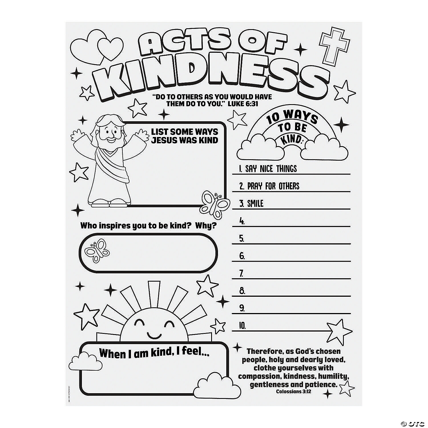 - Color Your Own Acts Of Kindness Posters Oriental Trading