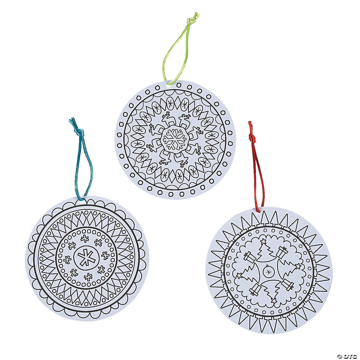 - Color Your Own Christmas Mandala Ornaments Oriental Trading