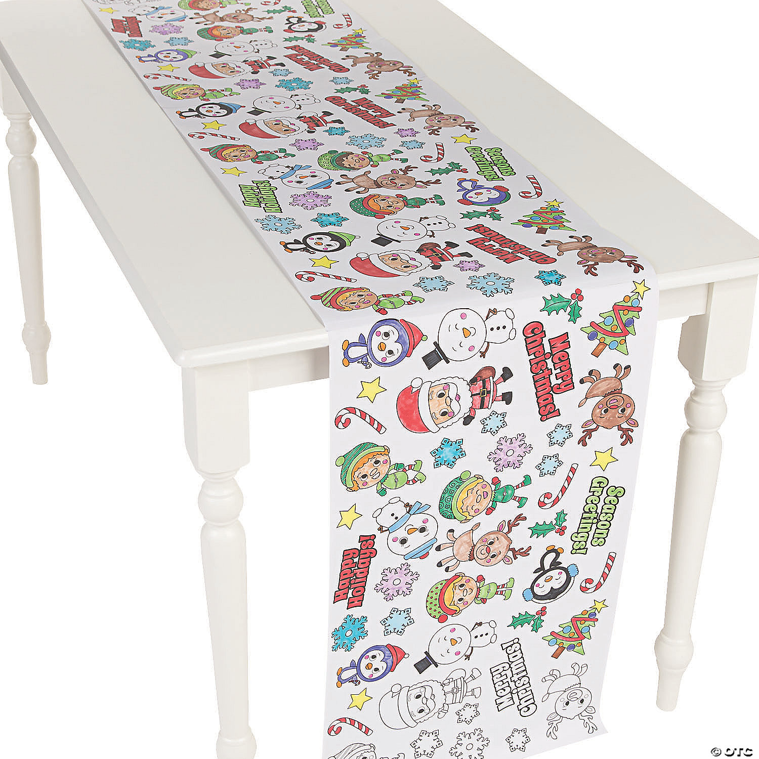 Christmas Table Runner.Color Your Own Christmas Table Runner Roll