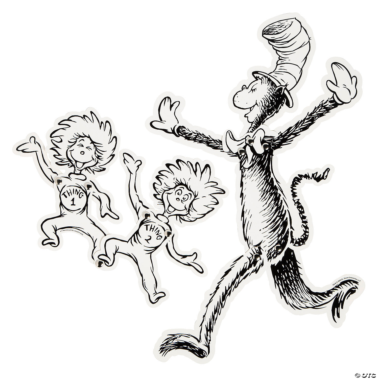 Color Your Own Dr. Seuss™ Jointed Characters - 23 Pc.