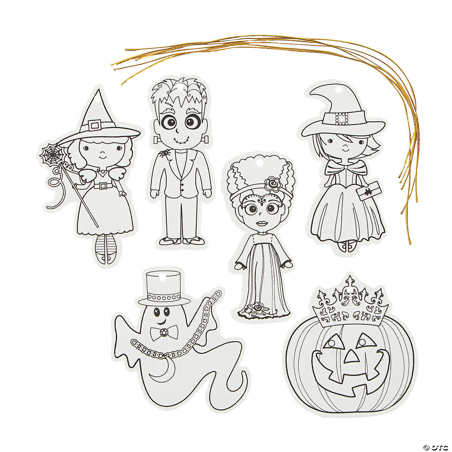 Color Your Own Halloween Ornaments Oriental Trading