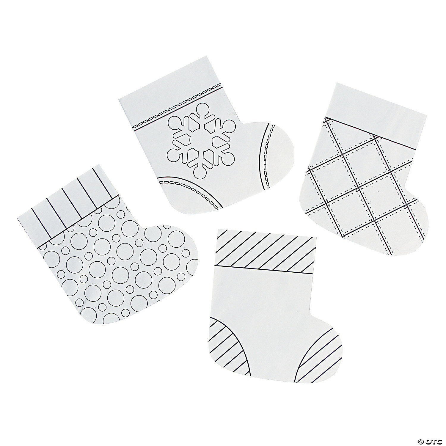 - Color Your Own Mini Paper Christmas Stockings Oriental Trading