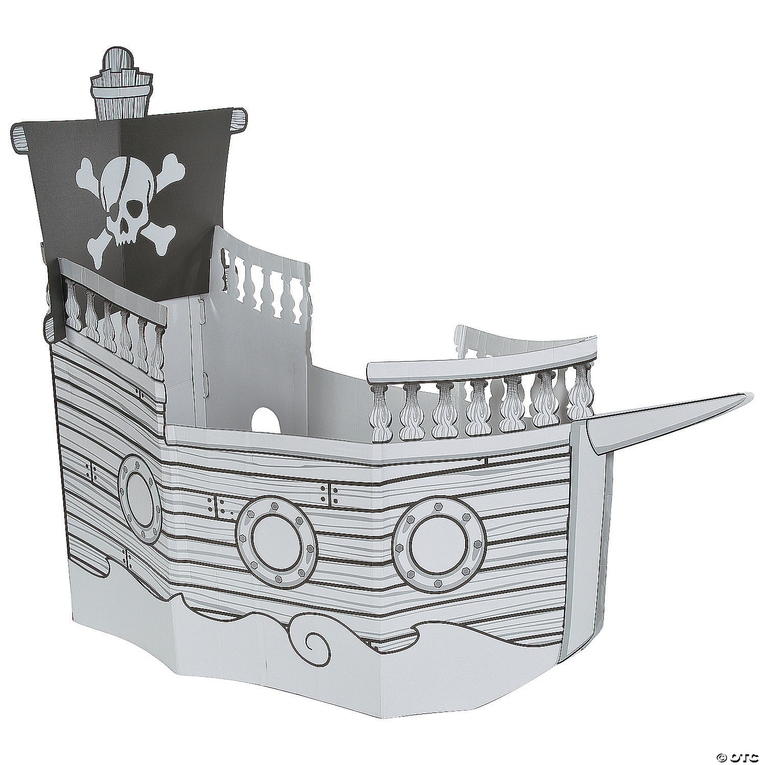 Color Your Own Pirate Ship Playhouse Oriental Trading