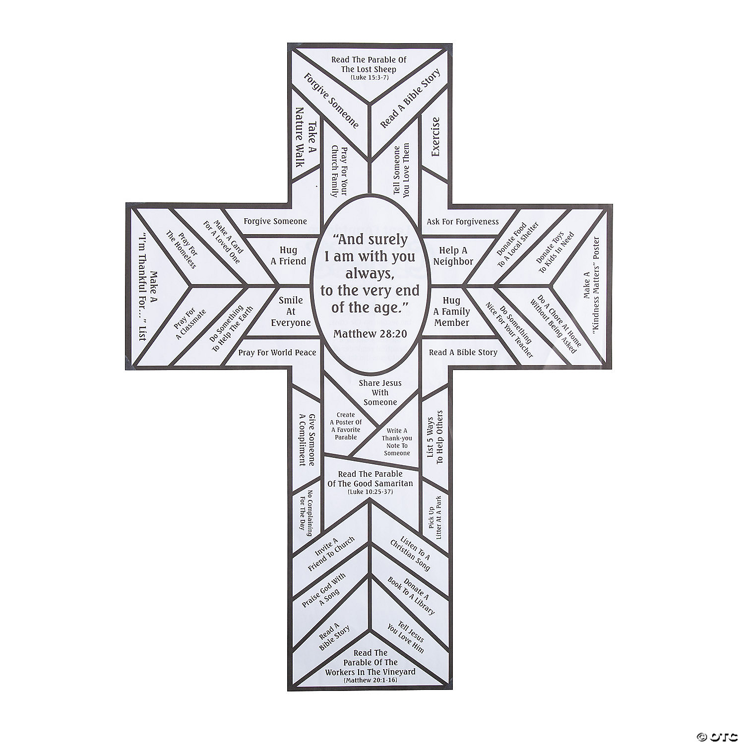 Color Your Own Stained Glass Cross Lent Countdown Sheets - 11 Pc.