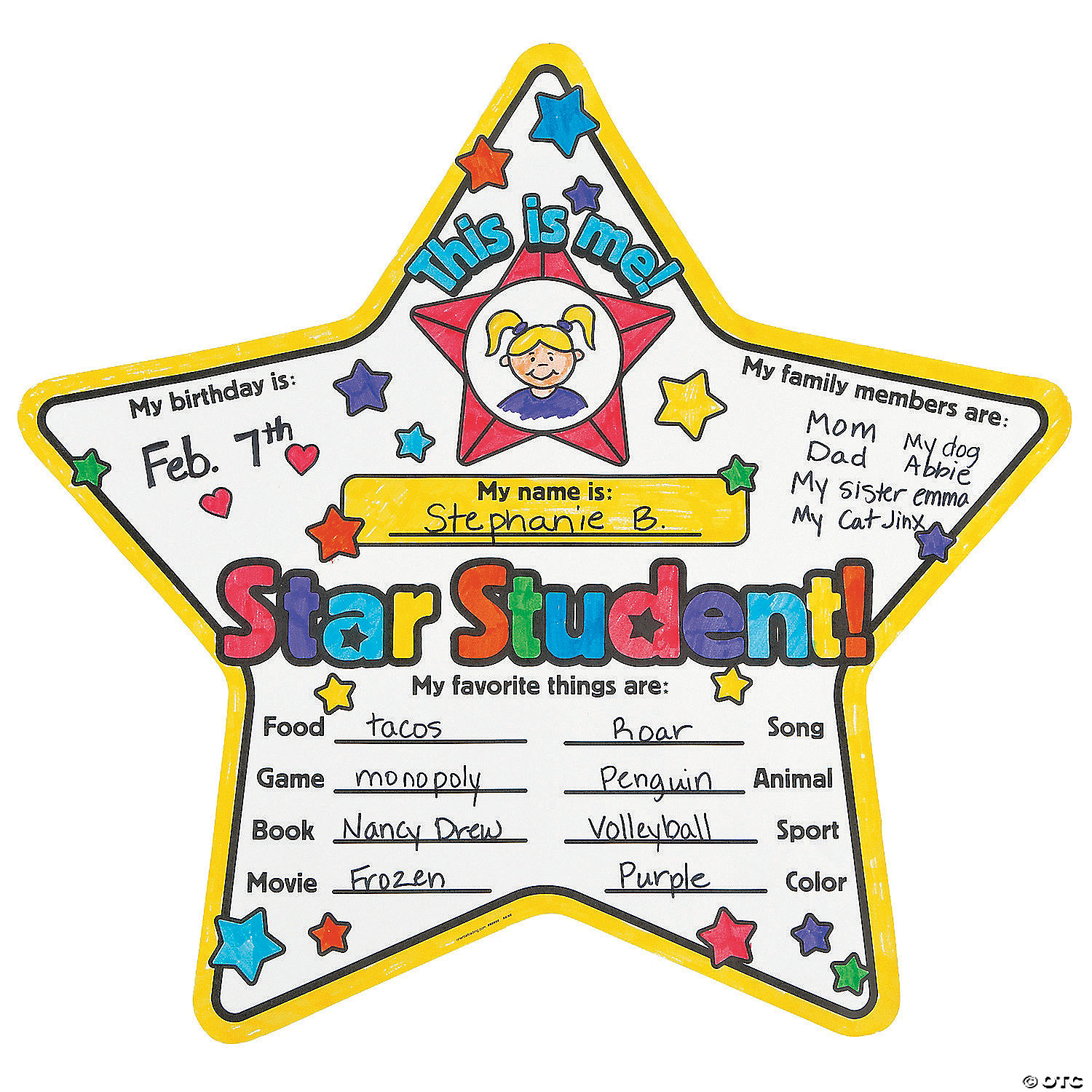 Color Your Own Star Student Posters Oriental Trading