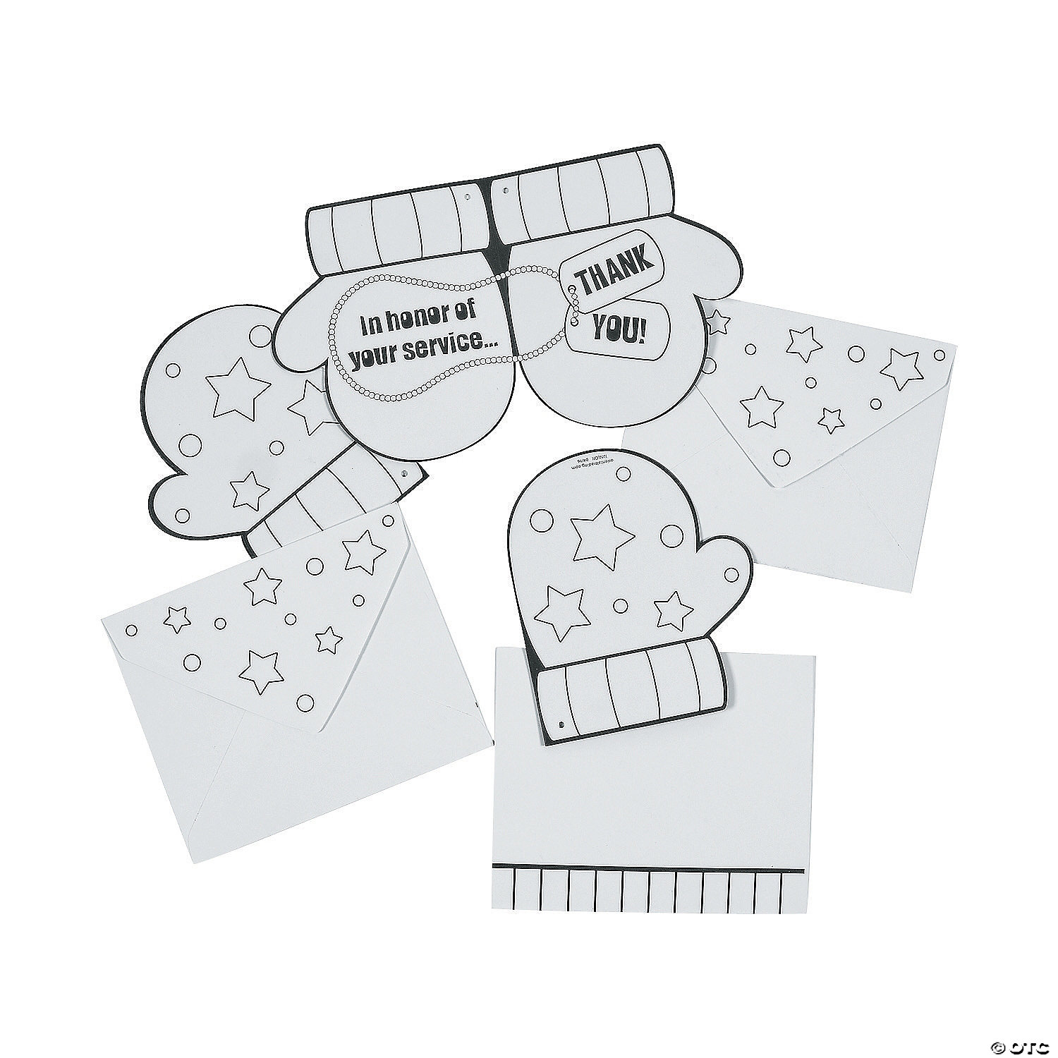 - Color Your Own Thank You Card Ornaments - Discontinued