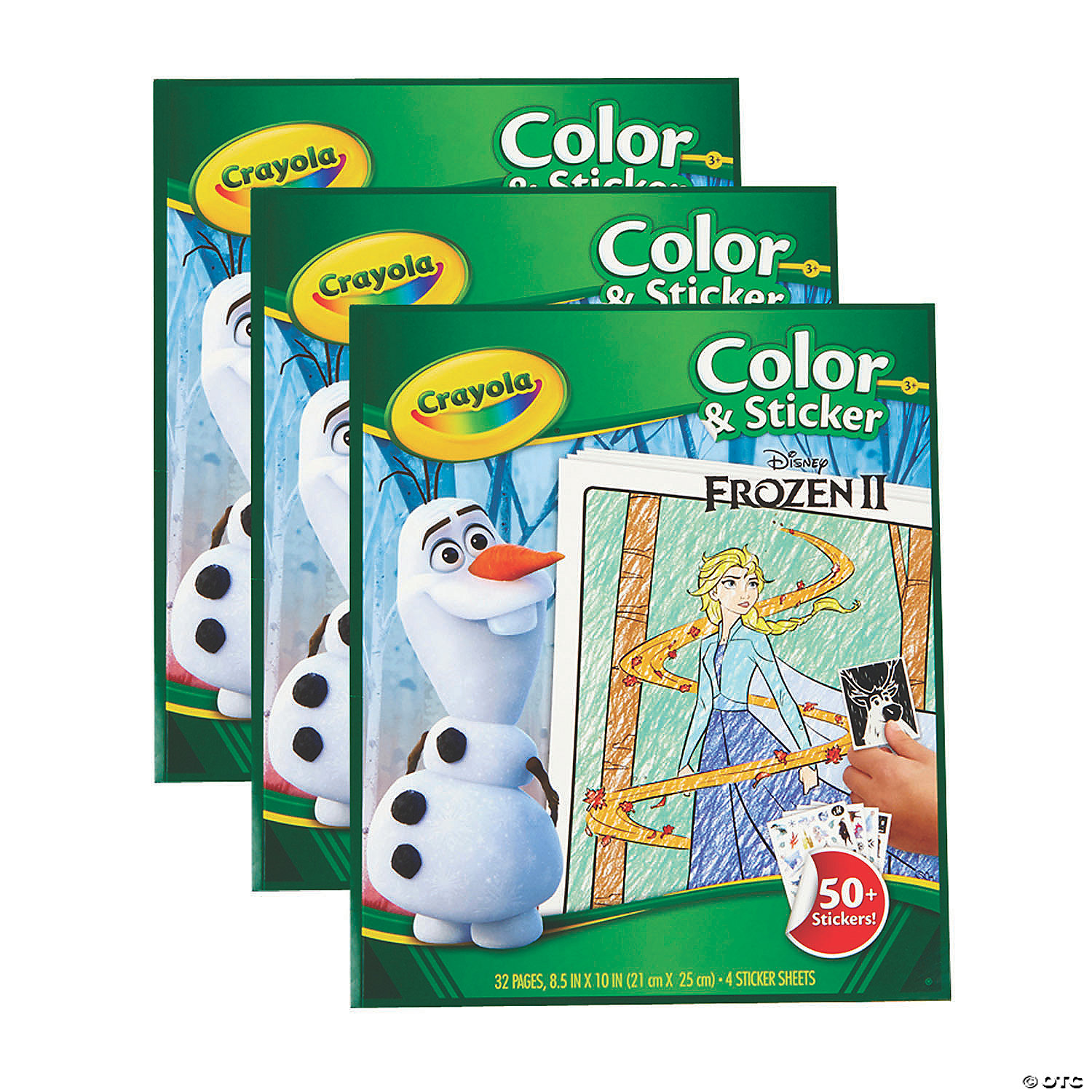Crayola Color & Sticker Book, Frozen 223, Pack of 23
