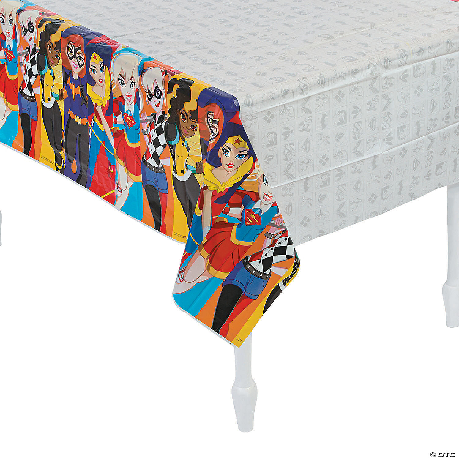 DC SUPER HERO GIRLS Birthday party plastic TABLE COVER 1 tablecloth